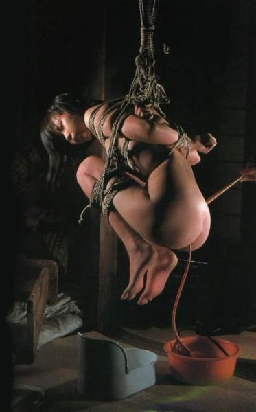 【SM緊縛画像】女性の苦しさが伝わってくる宙吊り系の緊縛ギャラリー 15