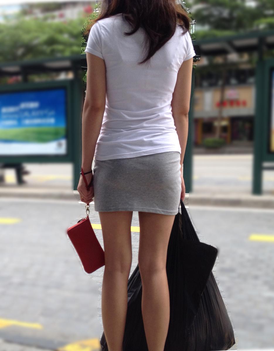 【街撮り素人画像】穏やかな地方で見つけたパンスト要らずの生美脚たち 13