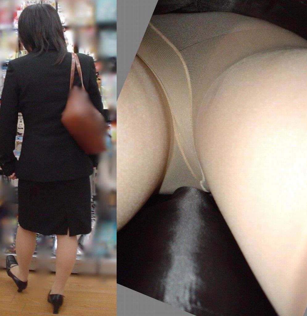 【パンチラ画像】無差別スカート逆さ撮り 恥毛もシミも逃さず激写www 19
