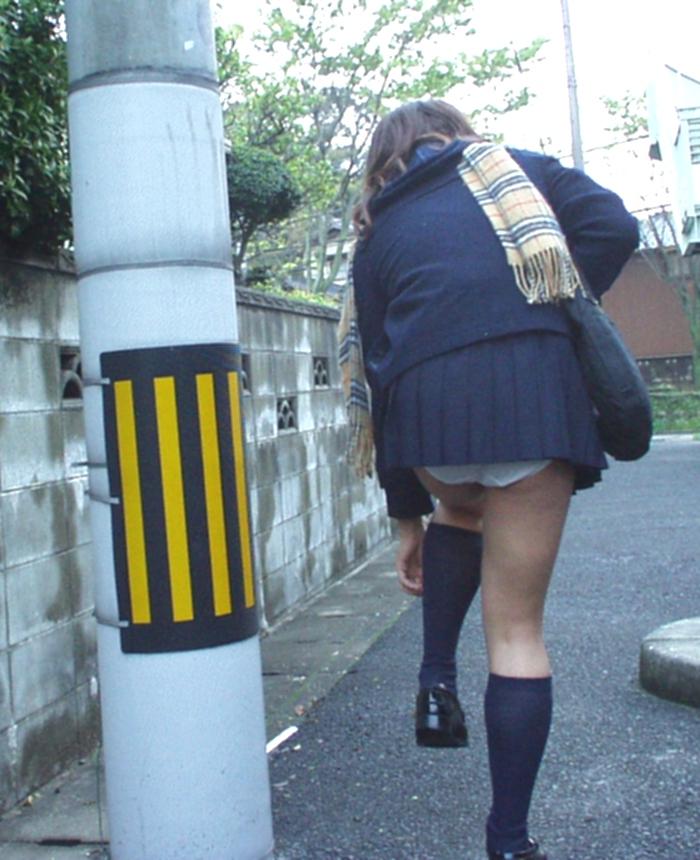 【パンモロ画像】覗くまでもなかったwwwワカメちゃんみたいに下着をモロ出す女の子達 12