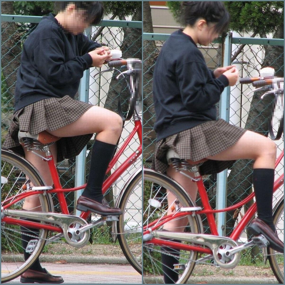 【街撮り自転車画像】おいサドル、代われ!と思ってしまいそうな自転車上の女尻 08