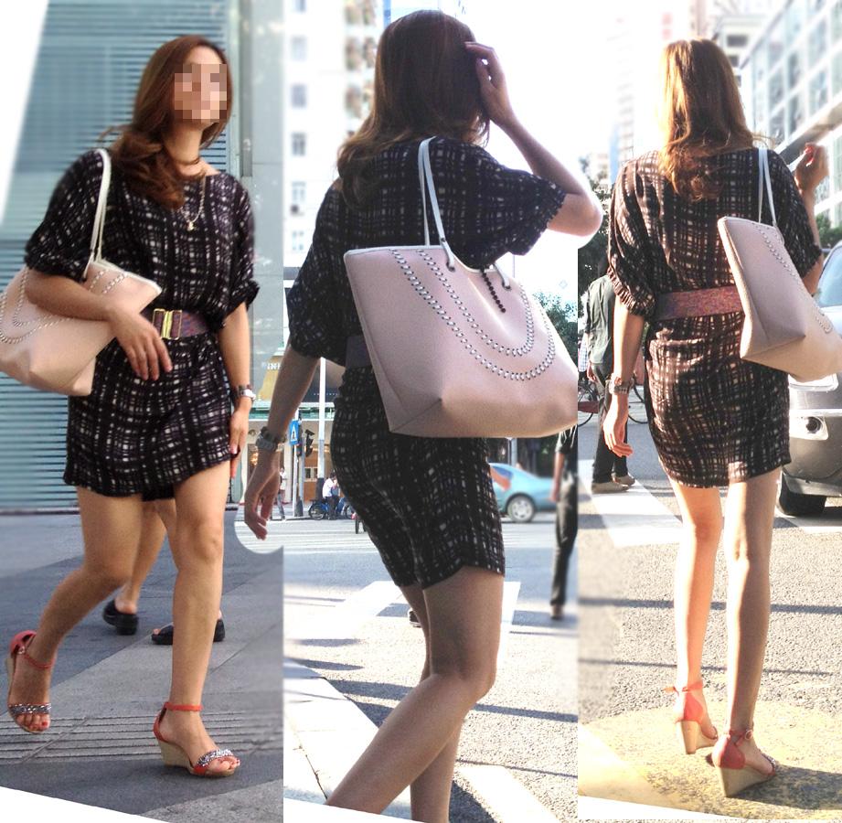 【素人美脚画像】街で見つけたお姉さん方の、見惚れてしまいそうな程長くて綺麗な脚 18