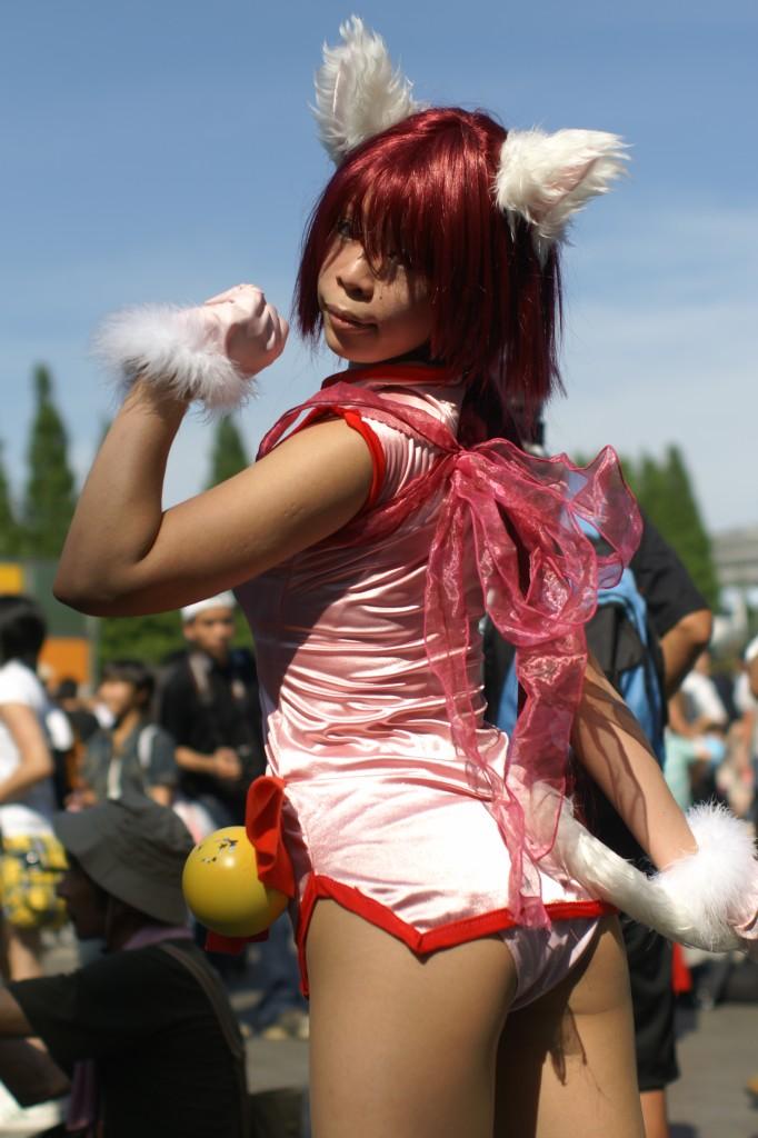 【コスプレ画像】衣装の一部ですから!パンツ丸見えコスプレイヤー 09
