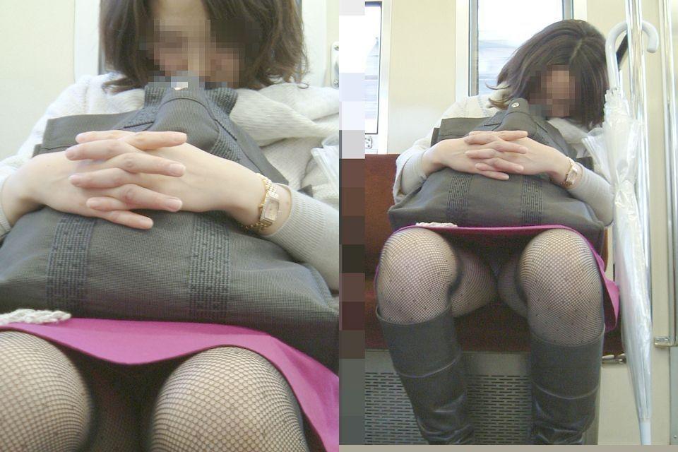 【電車内隠し撮り】電車内のはしたない女子たち いいぞもっとやれwww 12