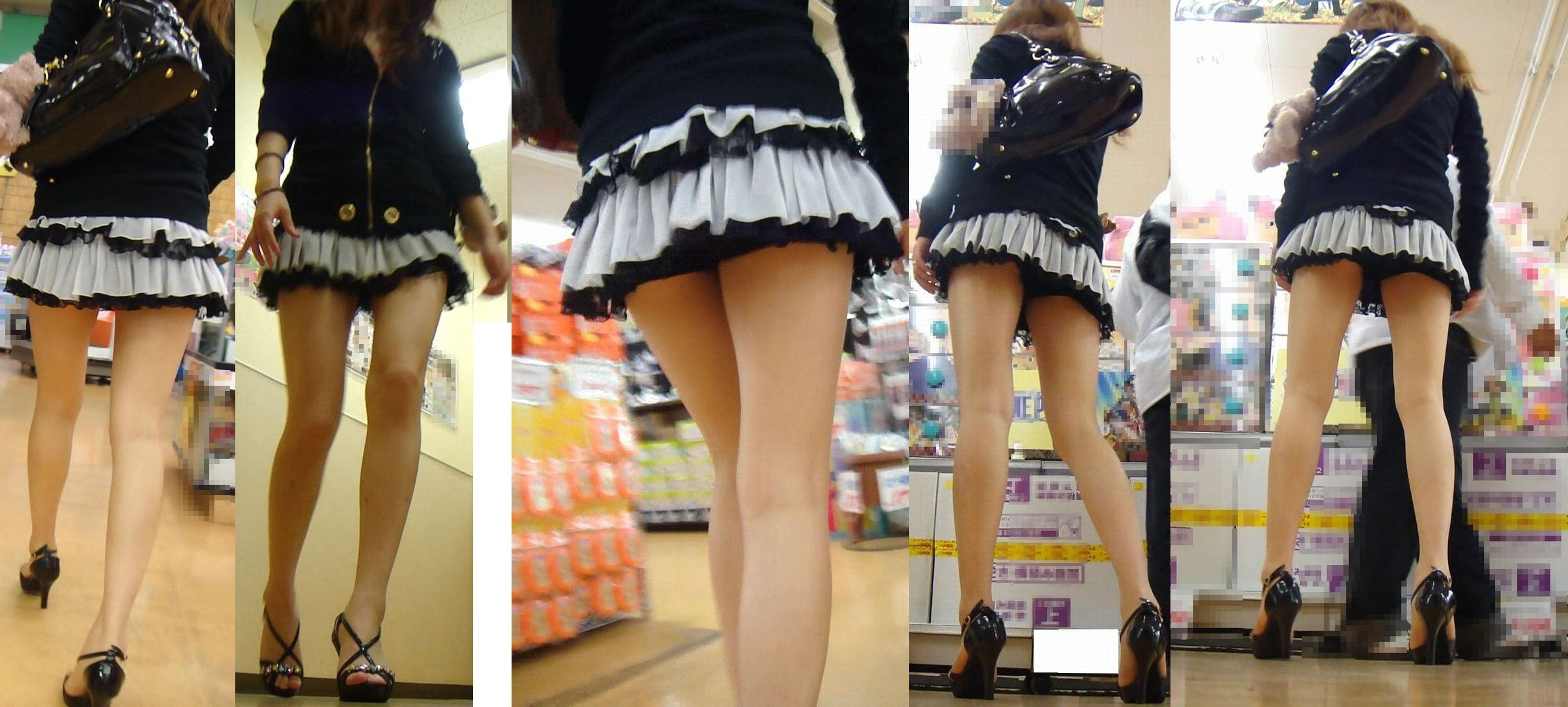 【パンチラ画像】絶対わざとだwww超ミニスカ女子のパンチラとムチムチ下半身の挑発 10