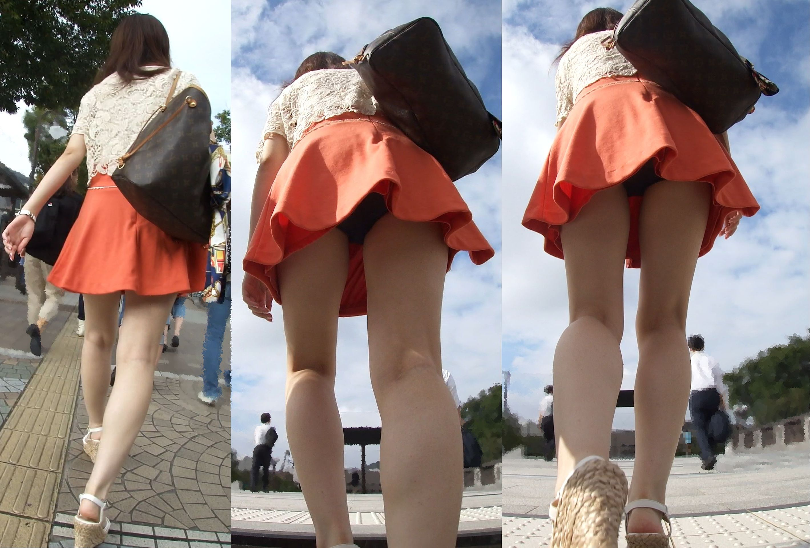 【パンチラ画像】絶対わざとだwww超ミニスカ女子のパンチラとムチムチ下半身の挑発 12
