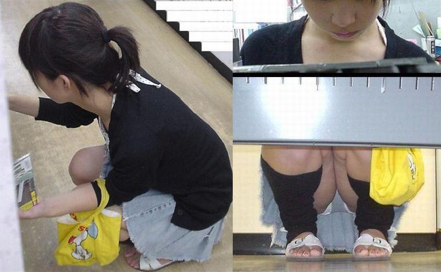 【パンチラ画像】陳列棚の向こう側から女の股間をじっくり隠撮www 20