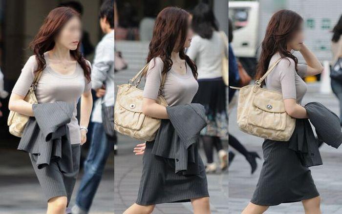 【街撮り巨乳】日本の巨乳率が高いか低いかはこの画像を見りゃわかるwww 06