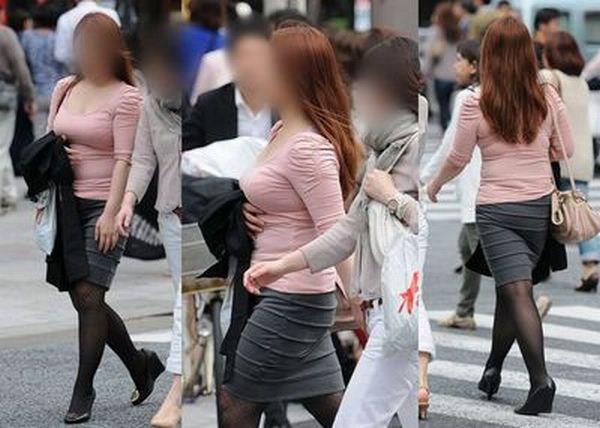 【街撮り巨乳】日本の巨乳率が高いか低いかはこの画像を見りゃわかるwww 07