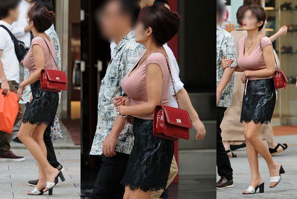 【街撮り巨乳】日本の巨乳率が高いか低いかはこの画像を見りゃわかるwww 12