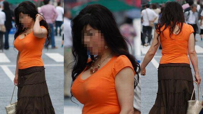 【街撮り巨乳】日本の巨乳率が高いか低いかはこの画像を見りゃわかるwww 13