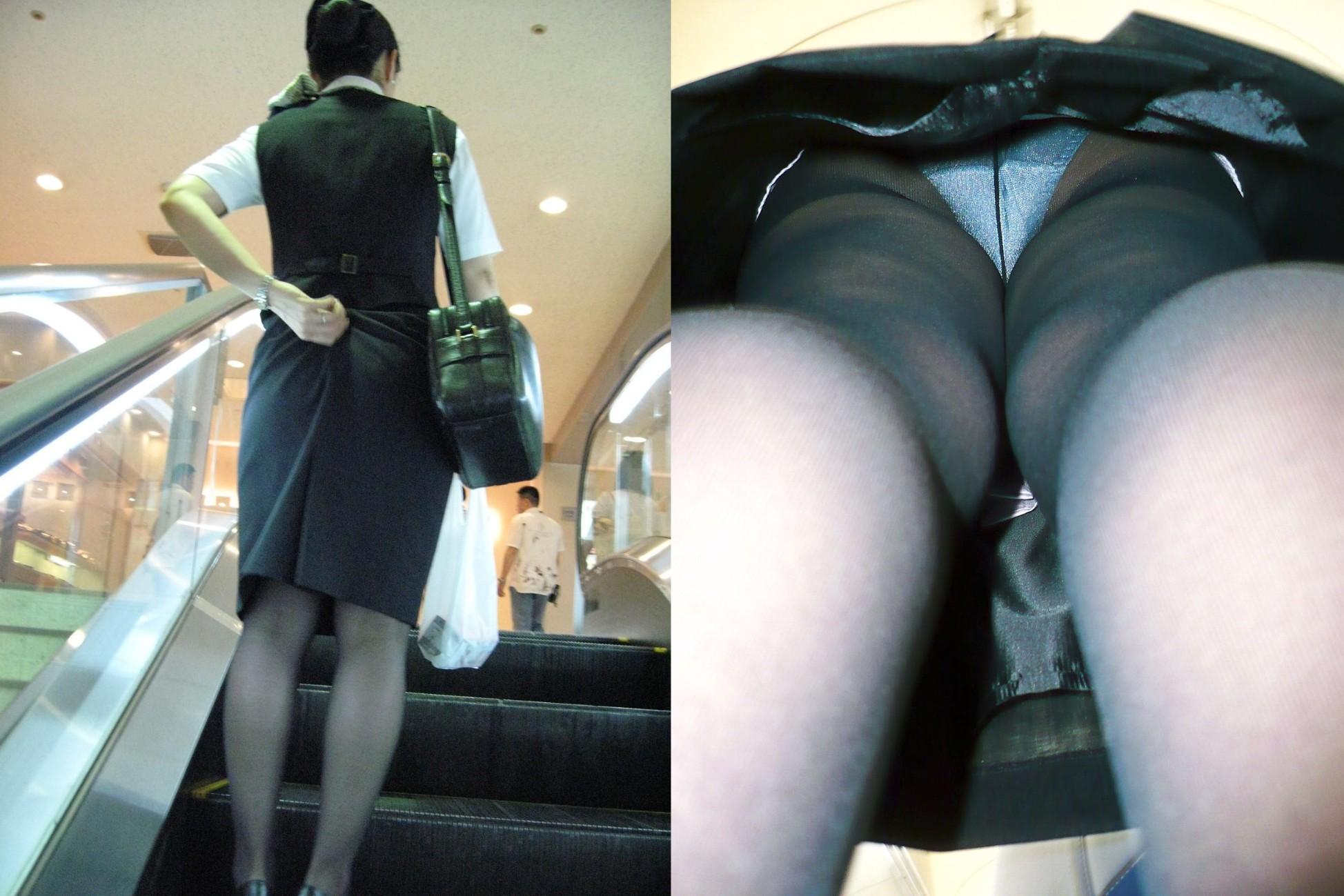 【パンチラ盗撮】業務中、社内行事に外回り…働く女性のムレた股間を必死に覗いたパンチラ画像 09