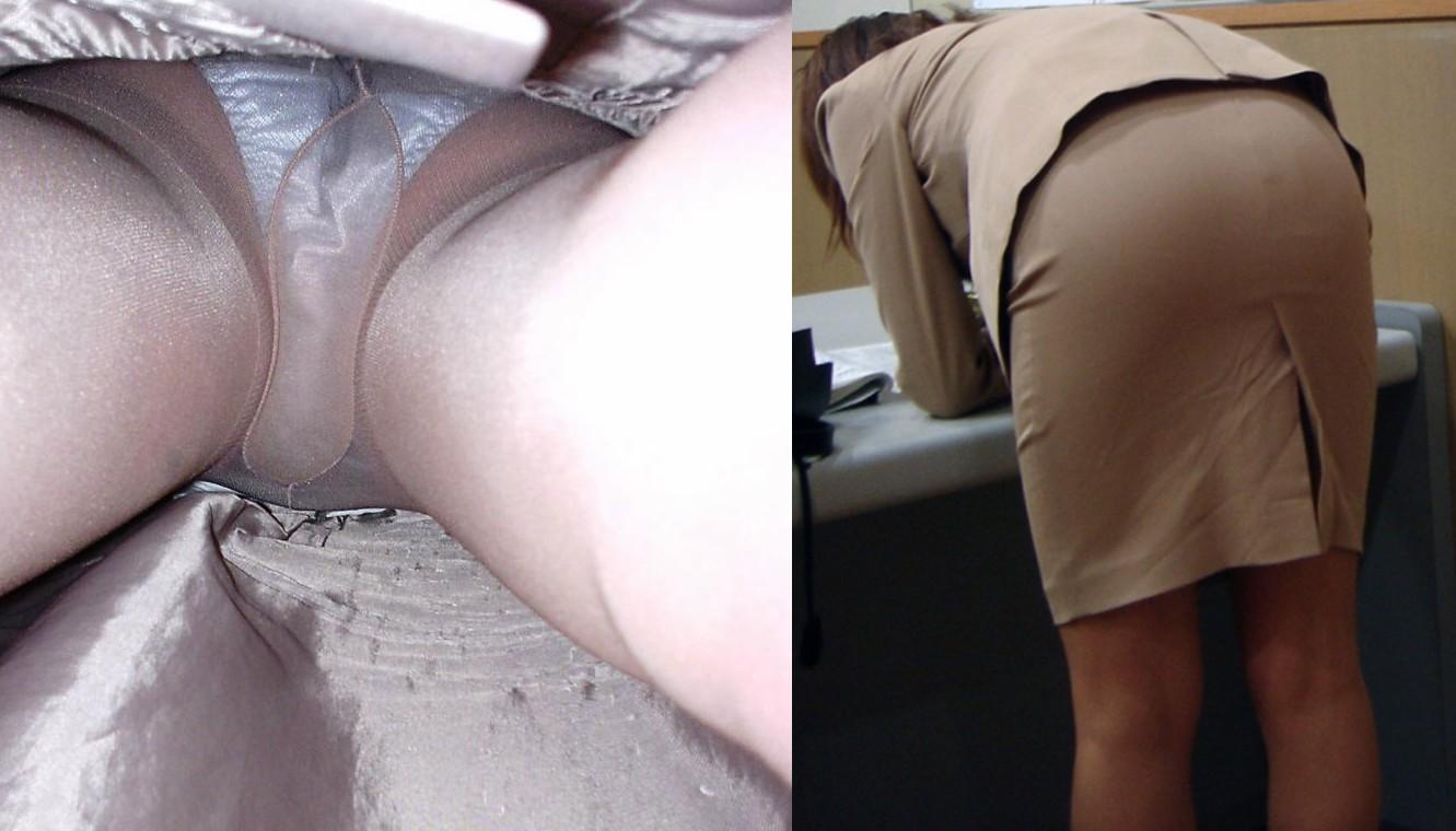 【パンチラ盗撮】業務中、社内行事に外回り…働く女性のムレた股間を必死に覗いたパンチラ画像 11