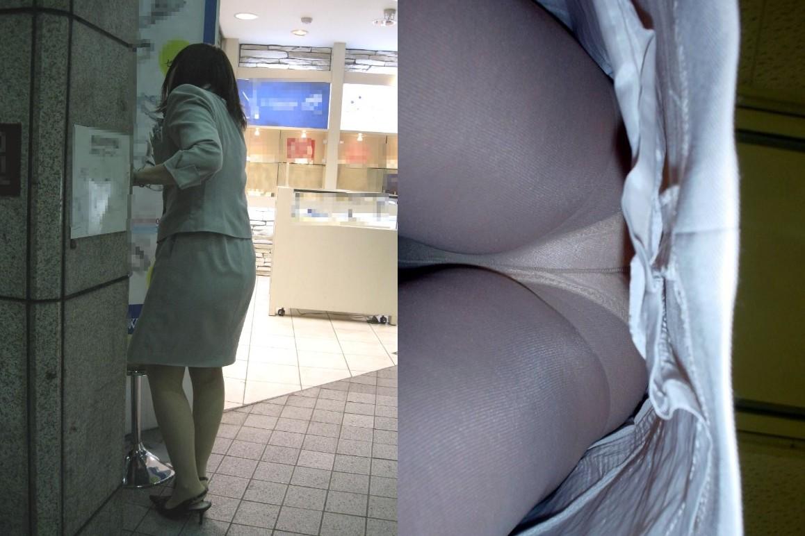【パンチラ盗撮】業務中、社内行事に外回り…働く女性のムレた股間を必死に覗いたパンチラ画像 12