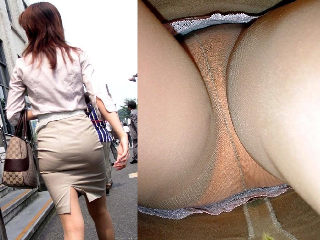 【パンチラ盗撮】業務中、社内行事に外回り…働く女性のムレた股間を必死に覗いたパンチラ画像 17