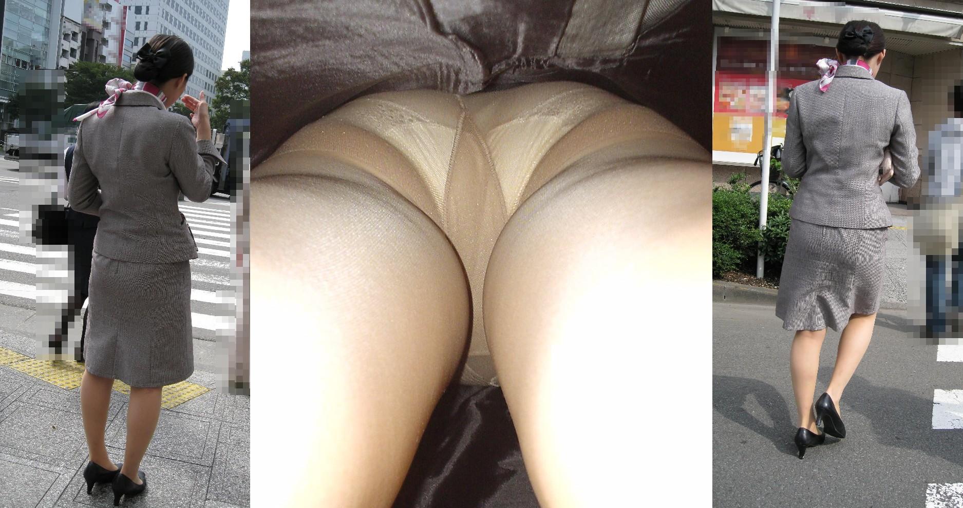 【パンチラ盗撮】業務中、社内行事に外回り…働く女性のムレた股間を必死に覗いたパンチラ画像 18