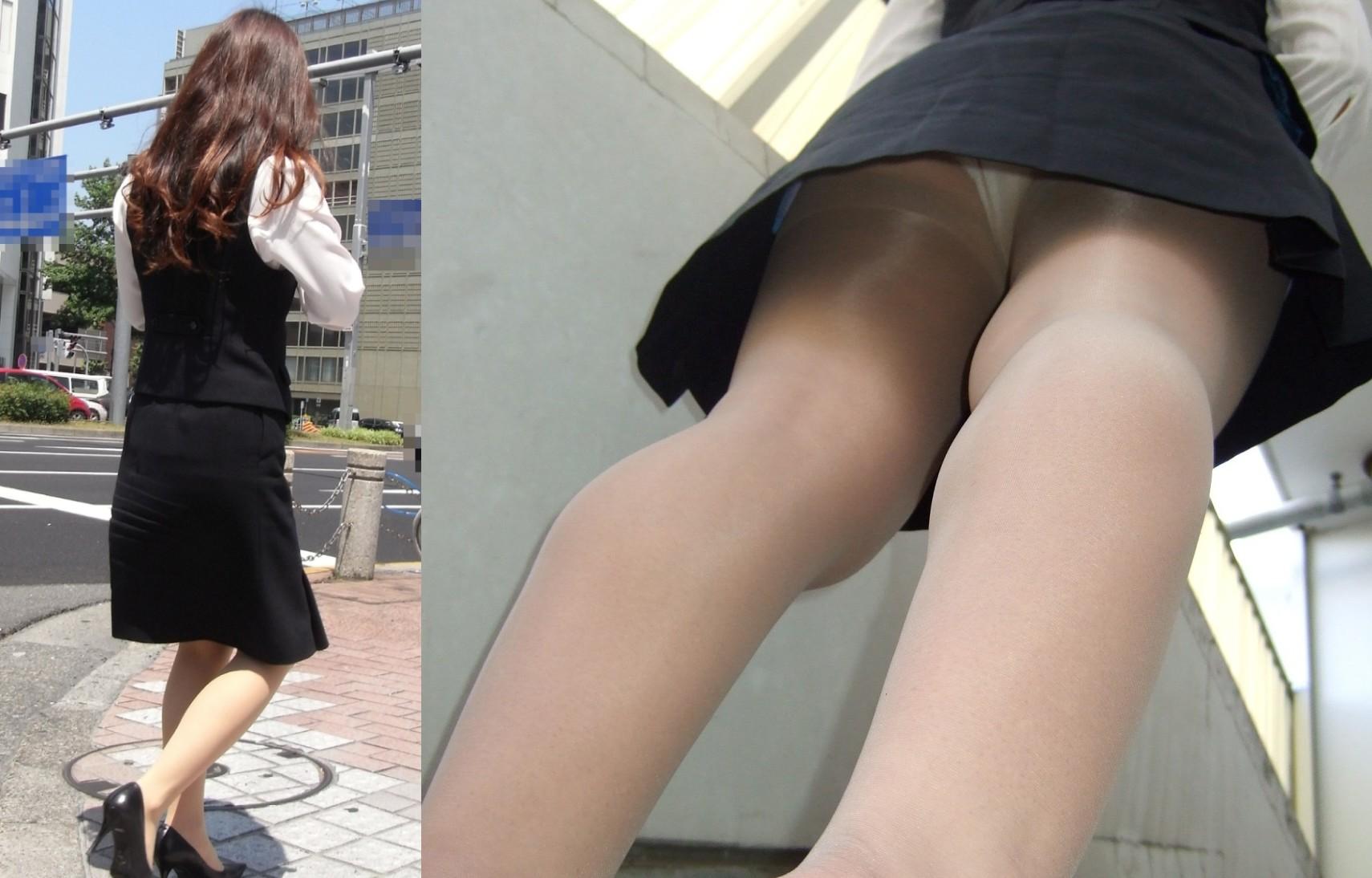 【パンチラ盗撮】業務中、社内行事に外回り…働く女性のムレた股間を必死に覗いたパンチラ画像 19