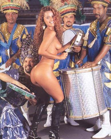 【外人エロ画像】公認猥褻ですw乳首露出しまくりの情熱サンバカーニバル 08