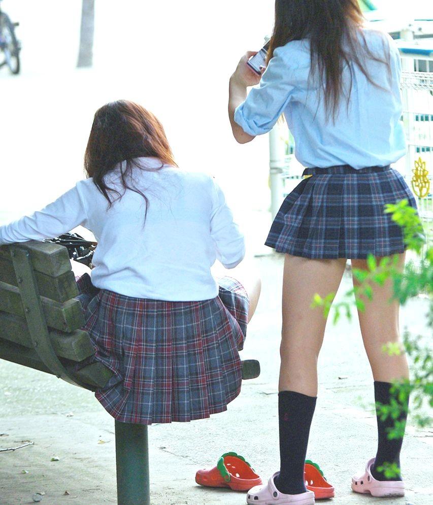 【JK街撮り】登下校中のJKたちの若き生脚に癒されて朝を迎えましょうwww 07