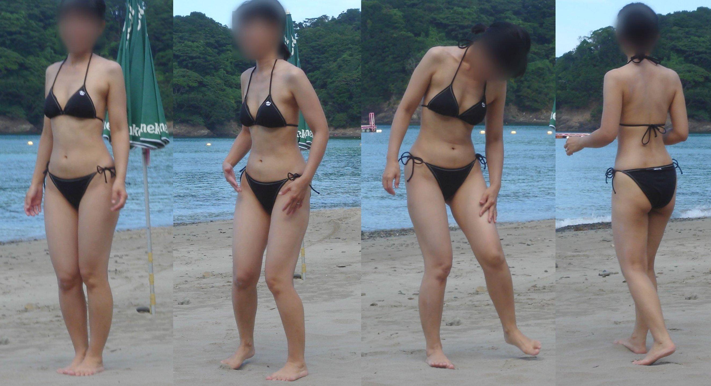 【人妻の水着】これが人妻の体だとw旦那が自慢して嫁の水着姿の画像をうp 08