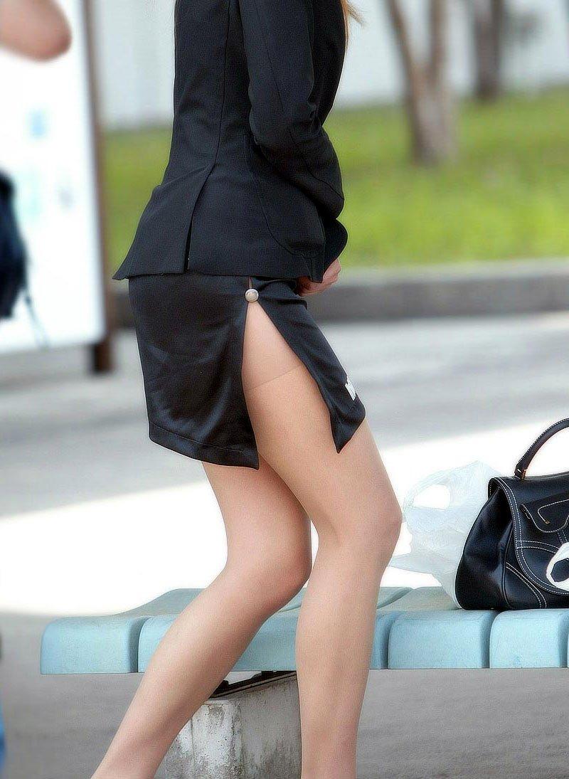 【OL美脚画像】街行く働くお姉さんのパンスト脚が美しい割合は限りなく高いwww 08