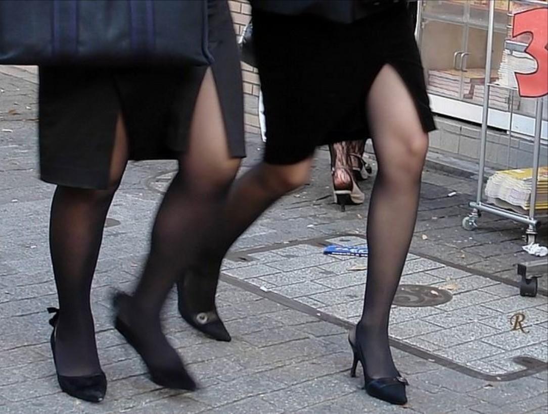 【OL美脚画像】街行く働くお姉さんのパンスト脚が美しい割合は限りなく高いwww 20