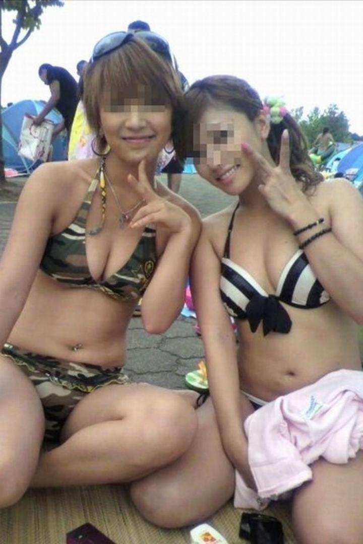 【水着エロ画像】彼女が水着に着替えたら絶対興奮!でも彼女居ないから人の女のビキニで満足しとくかwww  16