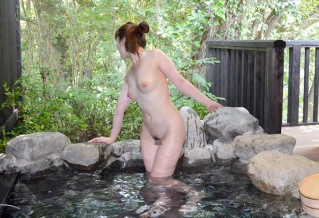【温泉裸体撮り画像】温泉では撮影機材の持ち込み禁止が全く守られてない件www