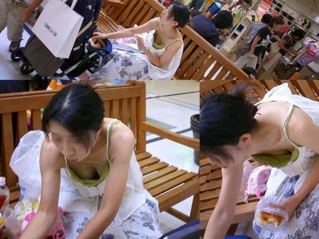 【街撮り胸チラエロ画像】まだまだ暑いですが、エロい胸チラが沢山拝めるなら乗り切れる自信が湧きますwww  09