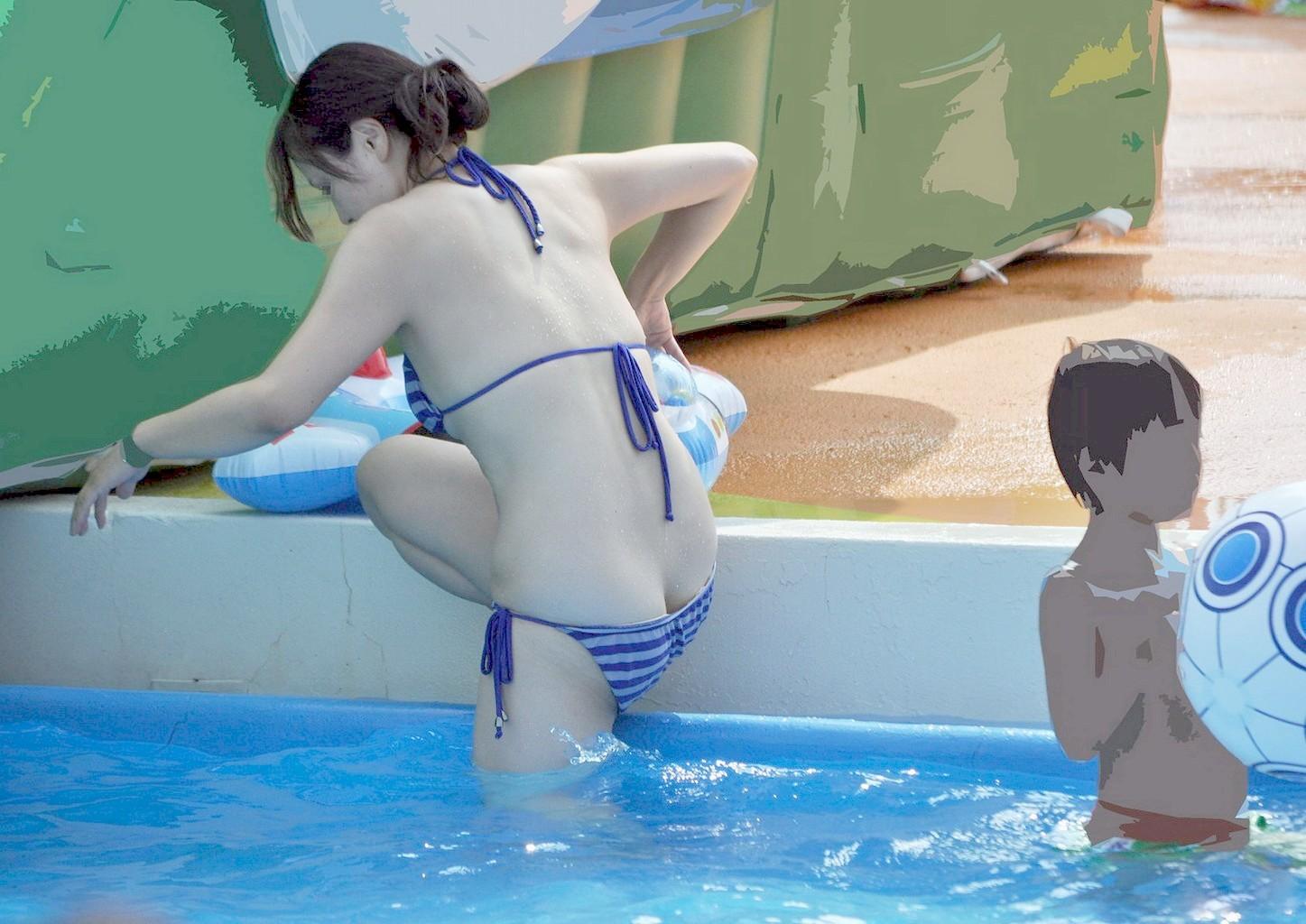 【素人水着エロ画像】夏の思い出補完用、水着素人たちの事件にできないえっちなハプニング総集編www 10