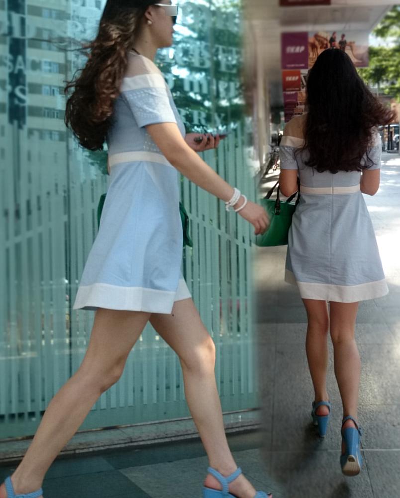 【中華美脚微エロ画像】美脚の楽園、中国で街撮りw数歩進めばほっそり女脚と巡り会えるwww 04