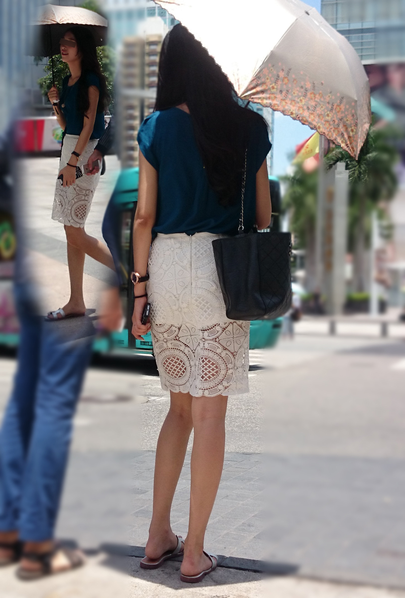 【中華美脚微エロ画像】美脚の楽園、中国で街撮りw数歩進めばほっそり女脚と巡り会えるwww 06