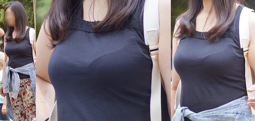 【着衣胸エロ画像】街行くママさん方の巨乳が目立ちすぎでヤバい…ついでに腹もwww 02