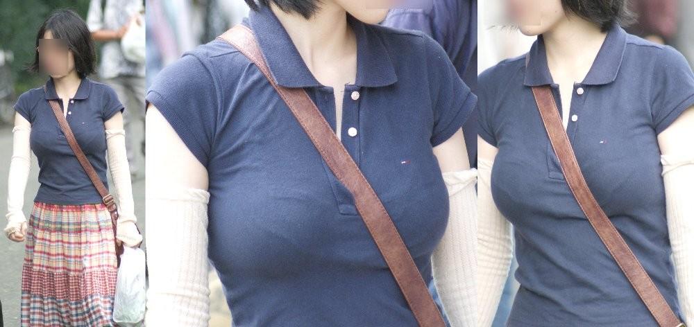 【着衣胸エロ画像】街行くママさん方の巨乳が目立ちすぎでヤバい…ついでに腹もwww 11