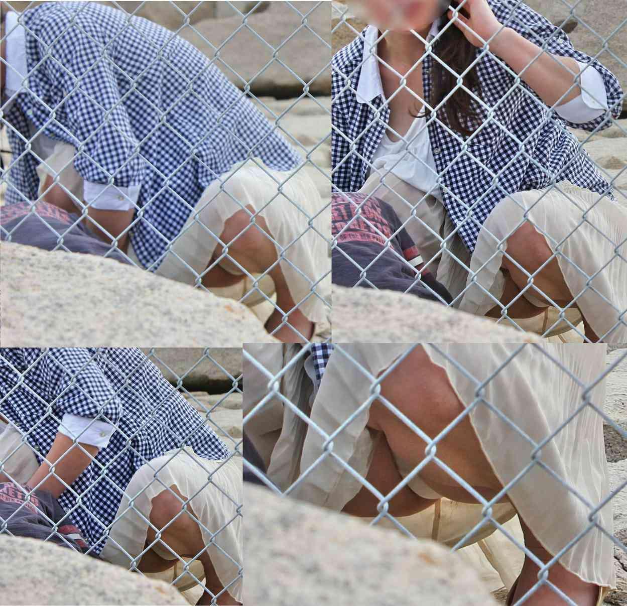 【パンチラエロ画像】ミニスカなのに性懲りも無くしゃがみ込む女が多いからどこ見ていいか判断に迷うwww 17