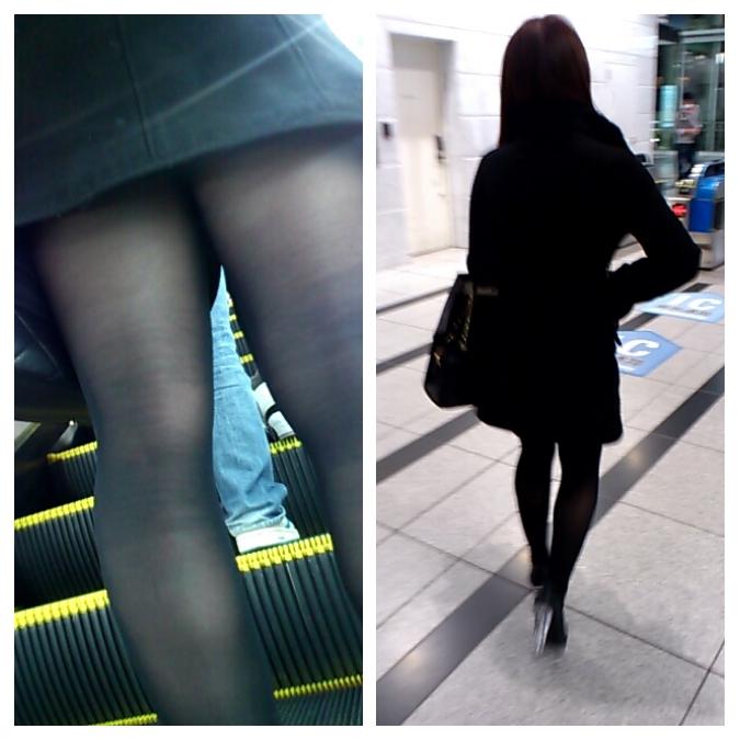 【太ももエロ画像】下半身にむしゃぶりつきたい餅2つwww若い女の太もも無差別撮り 13