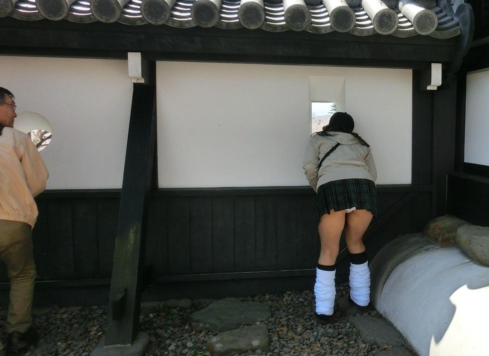 【パンチラエロ画像】(見えてるよー…)と心の中でだけwスカート引っ掛けてパンツ見えっ放しな女子www 03