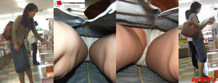 【パンチラエロ画像】全身もお尻も拝めるなんて…たまらない逆さ撮りパンチラ覗きwww 01