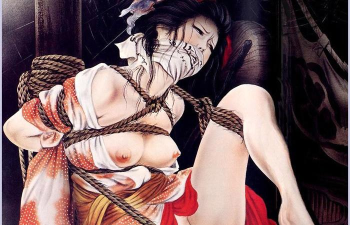 【二次エロ画像】あらゆる意味で濃厚w春画や劇画調なひと昔前の二次エロ画像www 001