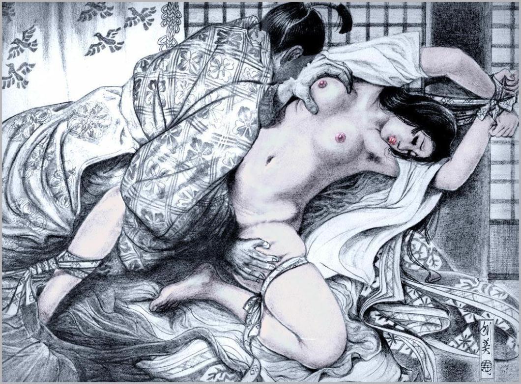 【二次エロ画像】あらゆる意味で濃厚w春画や劇画調なひと昔前の二次エロ画像www 06