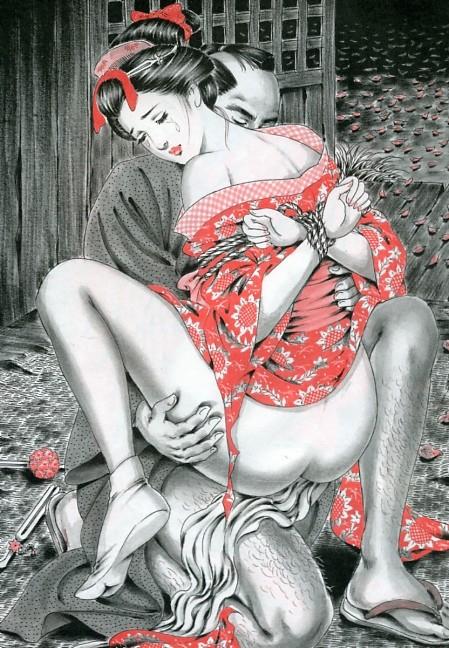 【二次エロ画像】あらゆる意味で濃厚w春画や劇画調なひと昔前の二次エロ画像www 12