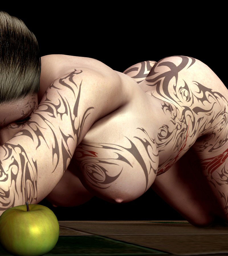 【海外エロ画像】初見で「ひっ…」と確実に漏らすw厳ついタトゥー入れた外人美女www 15