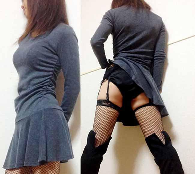 【下着姿エロ画像】コレ履いてたら100%デキる女!ガーターベルトが際立たせた女のムッチリ下半身www 05