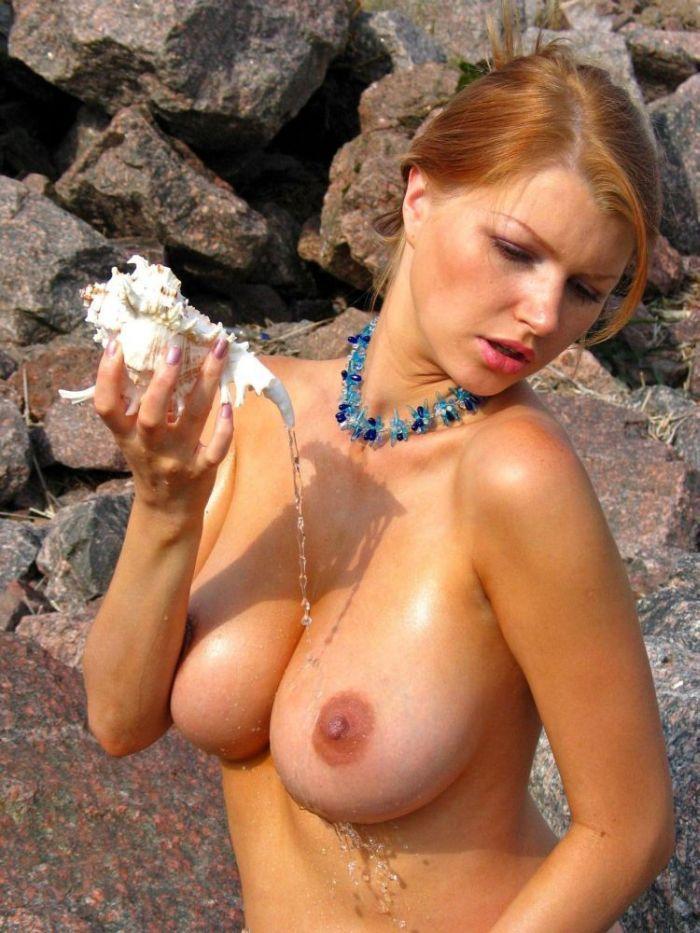 【海外エロ画像】人生で一度はヤッてみたい!美巨乳クビレが垂涎モノな外人美女の裸体www 14