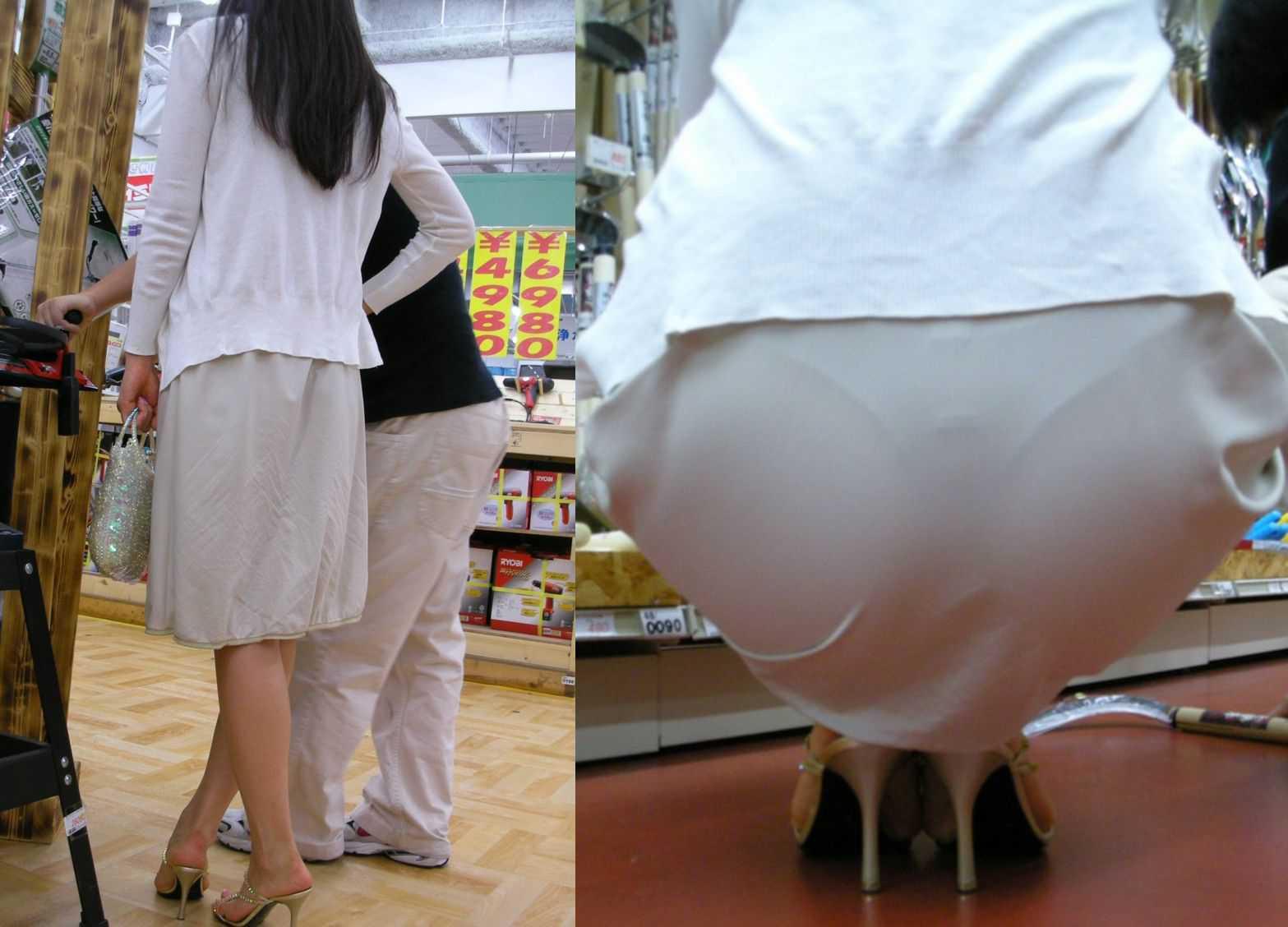 【透けパンエロ画像】大胆な下着がクッキリ!Tバック浮かせた街角の透け尻チェックwww 05