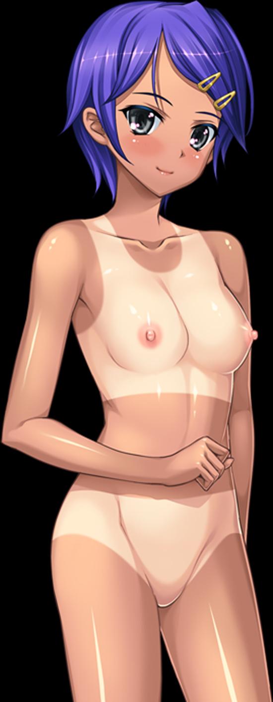 【二次エロ画像】二次では貴重な存在w健康的な褐色肌が艶めかしい日焼け美少女www 04