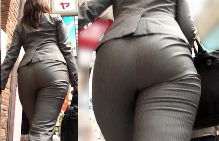 【着衣尻エロ画像】見ている方にもデカさが伝わるように接写したった街の着衣巨尻www 001