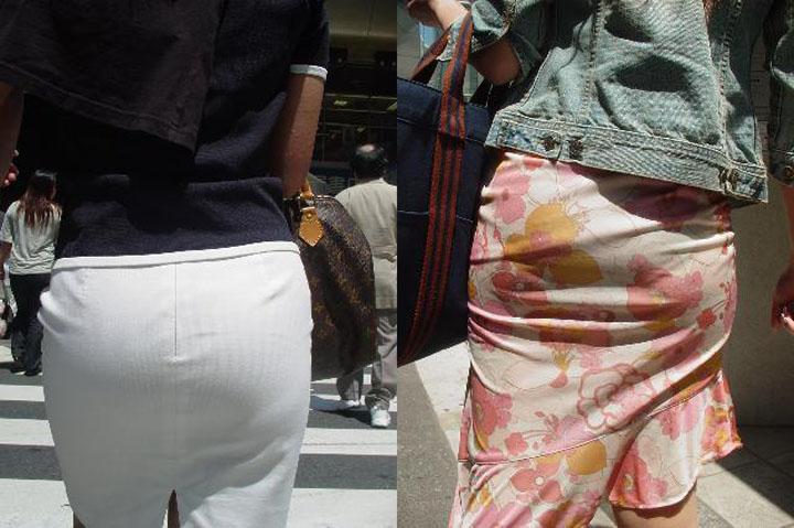 【着衣尻エロ画像】見ている方にもデカさが伝わるように接写したった街の着衣巨尻www 07