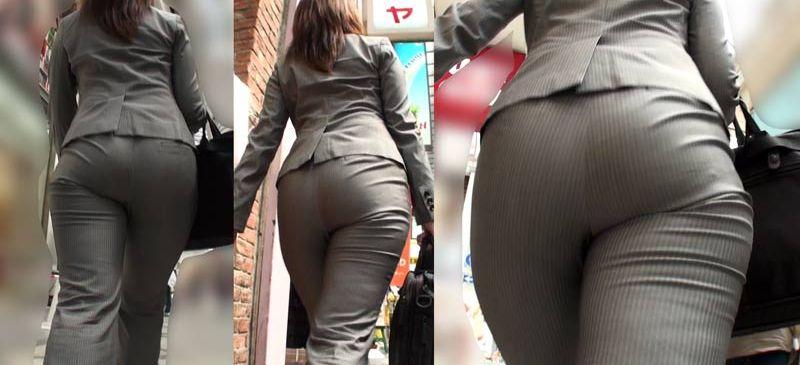 【着衣尻エロ画像】見ている方にもデカさが伝わるように接写したった街の着衣巨尻www 20