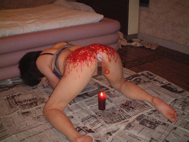【SMエロ画像】迂闊に真似はNGですwアツアツの熱蝋で責められる女体www 02